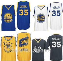 Free Shipping 2016 17 New #35 Kevin Durant Jersey, 100% Stitched Men's #35 Durant The City Basketball Jerseys golden blue white