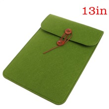 Army Green Slim Wool Felt Sleeve Protective Bag Tablet Cover Case For Apple iPad 11/13/15 Inch C26
