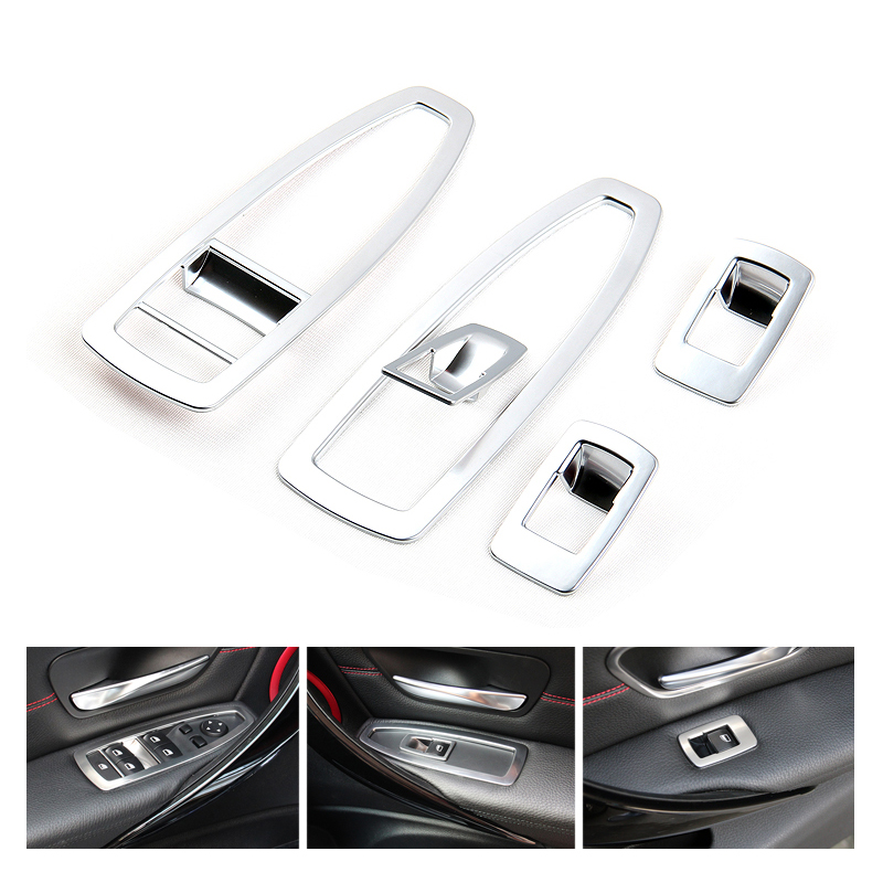 Car Window Control Button Trim Switch Frame Window Lifter Decoration Stickers BMW 3 Series Interior Accessories Car Styling