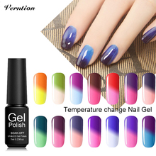 Verntion Manucure 29 Color Uv Gel Polish Chameleon Temperature Changing Hybrid Glue Varnish Soak Off UV Lucky 3d Nail Art Gel(China)