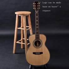 OEM custom guitar, OM Acoustic Guitar,Guitarra acustica solid Spruce top, rosewood fingerboasrd Free Shipping