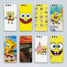 Sponge Bob design transparent clear hard case cover for Huawei P10 P9 Plus P8 P9 lite Mate S 7 8 9