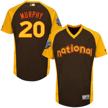 MLB Youth Washington Nationals Daniel Murphy Baseball Brown 2016 MLB All-Star Game Batting Practice Jersey(China)