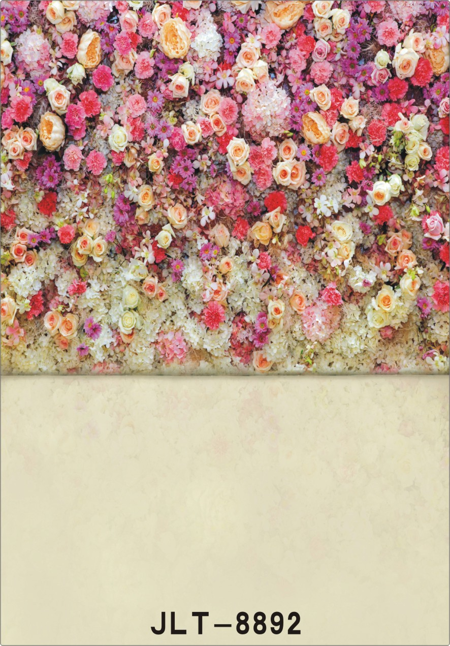 Photography background 5x7ft Colorful flower wooden floor princess kids studio computer printed backdrops free shipping 8892<br><br>Aliexpress