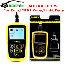 Auto Battery Monitor AUTOOL OL129 OBD2 OBDII EOBD Diagnostic Scanner Tool Live Data Display For All Cars,Part Vans & light Duty