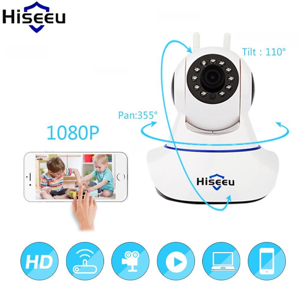 Hiseeu IP Camera 1080P HD Wifi Wireless Surveillance Camera Onvif Night Vision CCTV Camera Two Way Audio Endoscope Dropshipping<br>