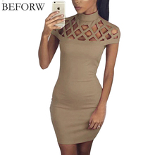 BEFORW Sexy Women Dress Summer Casual Womens Bodycon Dresses Big Size Women Clothing Mini Club White Black Bandage Pencil Dress