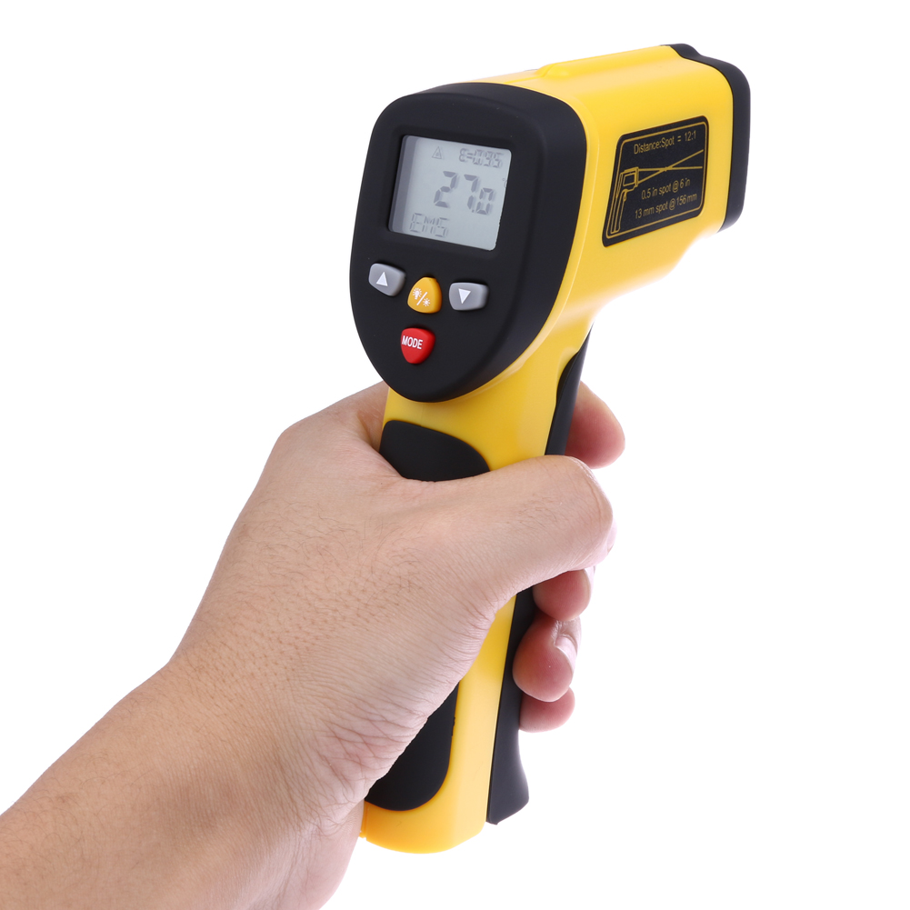 Dual Laser IR Gun Digital Infrared Thermometer Pyrometer Device Non-contact Temperature Tester for Industries Food Preparation(China (Mainland))