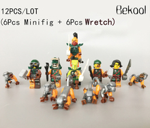12PCS/LOT Decool 10035-10040 Ninjagoes MINI TOYS figs Pirate Nadakhan Flintlocke Clancee Doubloon Cyren Bucko Monkey blocks kid(China)
