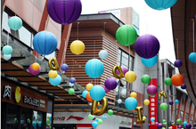 Free shipping 14 inch 35CM Lantern Chinese paper lantern wedding lanterns choose 20 color(China)