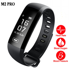 Smart WristBand Fitness Bracelet Watch Heart Rate Monitor Blood Oxygen Intelligent Weather 50 Words for ios xiaomi M2 Pro band 2(China)