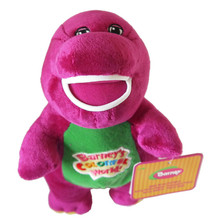 30cm Kawaii Barney Purple Dinosaur Plush Dragon Sing Song Soft Doll Animal Stuffed Toy For Baby Kids Children Best Gift