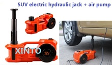 3Ton 12V dual-function horizontal type Electric hydraulic jack with tire pump air pump the max load is 3Ton for SUV use(China)