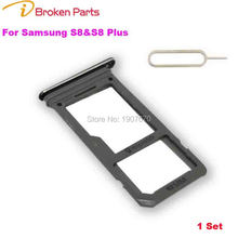 New OEM Single Sim Card+Micro SD Holder Slot Tray for Samsung Galaxy S8 G950F SIM Card Slot SD Card Tray Adapter Sim+Pin Key