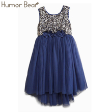 Humor Bear casual dress fashion girl's sequin vest dresses baby girls dress kids brand girls party princess dresses(China)