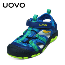 UOVO 2017 New Arrival Boys Sandals Children Sandals Closed Toe Sandals for Little and Big Sport Kids Summe Shoes Eur Size 25-34(China)