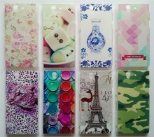 New Arrival Back Covers For Sony Xperia Z L36h C6602 C6603 Case Hard PC Plastic Back Case Many Patterns Choose Free Gifts(China)