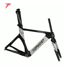 54cm carbon time trial frame tt carbon frame with topmost logo painting frame set FM-R834(China)