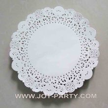 180pcs/lot 8.5'' white round Paper Doyley Paper Doily Tableware Doily(China)