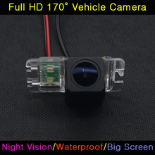Car Full HD 520TV Backup Parking Reversing Rear View Camera For Ford Mondeo Focus Hatchback Fiesta S-Max S Max 2010 2011 Kuga(China)