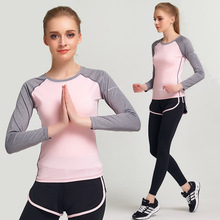 Autumn Yoga Running Fitness Training Sets Women Sportswear Long Sleeves Quick Dry Gym Sport Suit Female Jogging Tracksuits Kits(China)