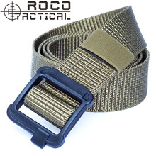 ROCOTACTICAL Mens Low Profile 1.5inch Enhanced TDU Tactical Belts Military Army Nylon Web Belts Noice Silent Plastic Buckle