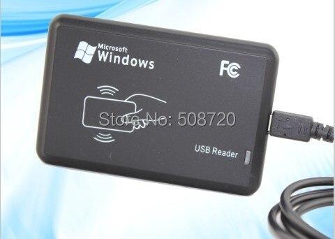 125KHz RFID ID Card Reader &amp; Writer/Copier/Programmer FREE Rewritable ID Card &amp; KeyFob<br>