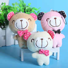 A Lovely Teddy Bear Three Colors Can Be Choose Cute Plush Toys Pendant Very Delicate Presents for Children Holiday Gifts