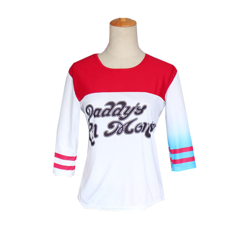 Harley Quinn Outfit Women Cosplay Costumes Jacket T-Shirt Shorts Anime Party Suit Female Fancy Halloween Fantasias Adults 17 6