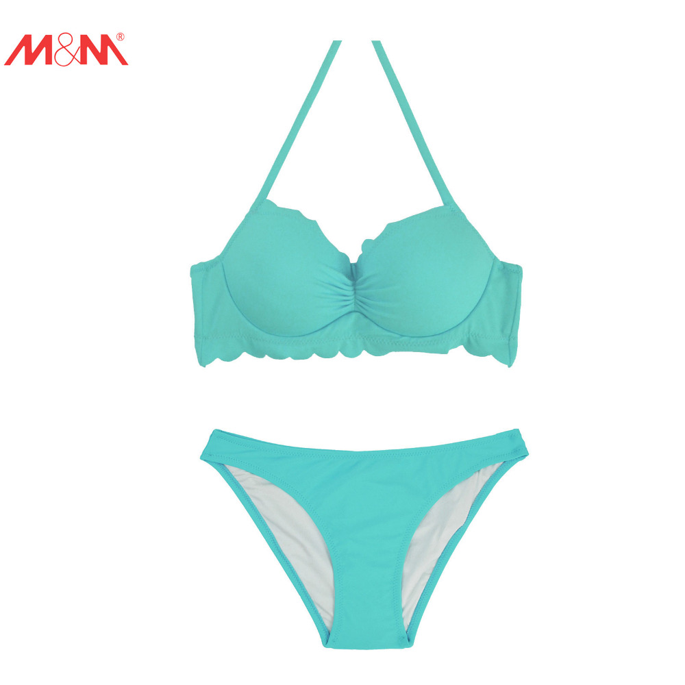 M&amp;M Women Push Up Sexy Bikini Set Sting Halter Swimsuit Print Pad Brazilian Swimsuit Beachwear Low Waist Bathing Suit Biquini<br><br>Aliexpress