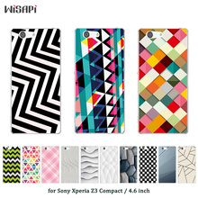 Buy Cases Sony Xperia Z3 Compact Mini D5803 D5833 Phone Case Square Printed Silicone Silicon Back Cover Z3 Mini Capa for $1.39 in AliExpress store