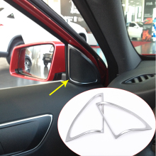 ABS Chrome Accessory Door Speaker Frame Trim 3D Stickers Mercedes Benz A180 A200 A260 Car-Styling 2013-2015 - Automobile decorative accessories store