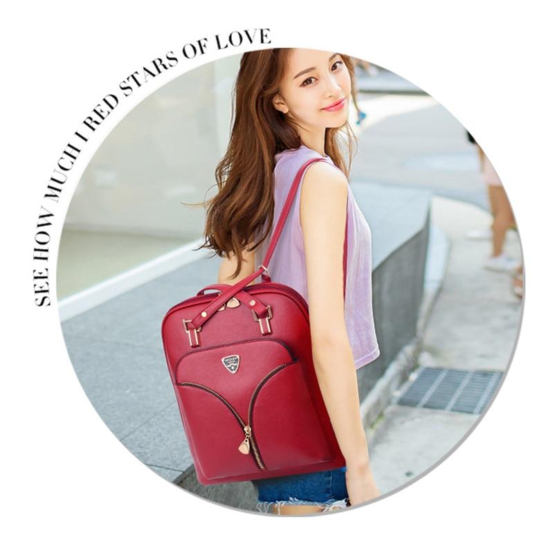 Nevenka Anti Theft Leather Backpack Women Mini Backpacks Female Travel Backpack for Girls School Backpacks Ladies Black Bag 201821