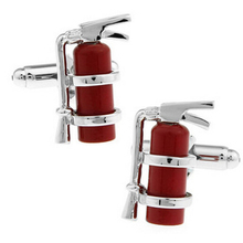 High-end gift red material firefighters fire extinguisher cufflinks cuff nails French shirts cufflinks wholesale friends gifts(China)