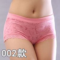2015 4 pcs/lot Women's sexy panties ,  bamboo fibre underwear women ,high waist lace  plus size panties,free shipping