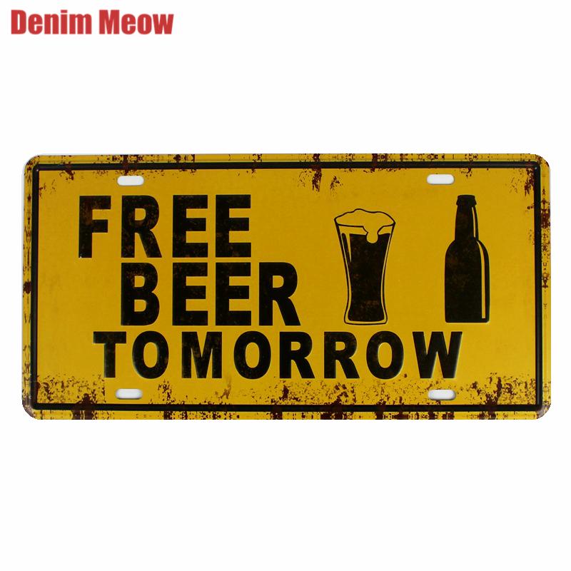garage wall signs IRON CITY BEER Liquor Shop Bar Cave metal tin sign