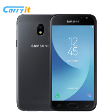 Original Samsung Galaxy J3 2017 J3300 3G 32G 5.0'' Dual SIM Mobile phone Fingerprint NFC 13.0MP Snapdragon MSM8913 Cell phone(China)