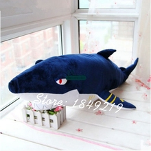 Dorimytrader 30'' / 75cm Giant Plush Animal Emulational Shark Toy Soft Stuffed Cartoon Sharks Doll Gift Free Shipping DY61208