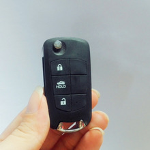 Flip Folding Remote Key Shell Case For Nissan Maxima Sentra Versa 3 Button With LOGO(China)