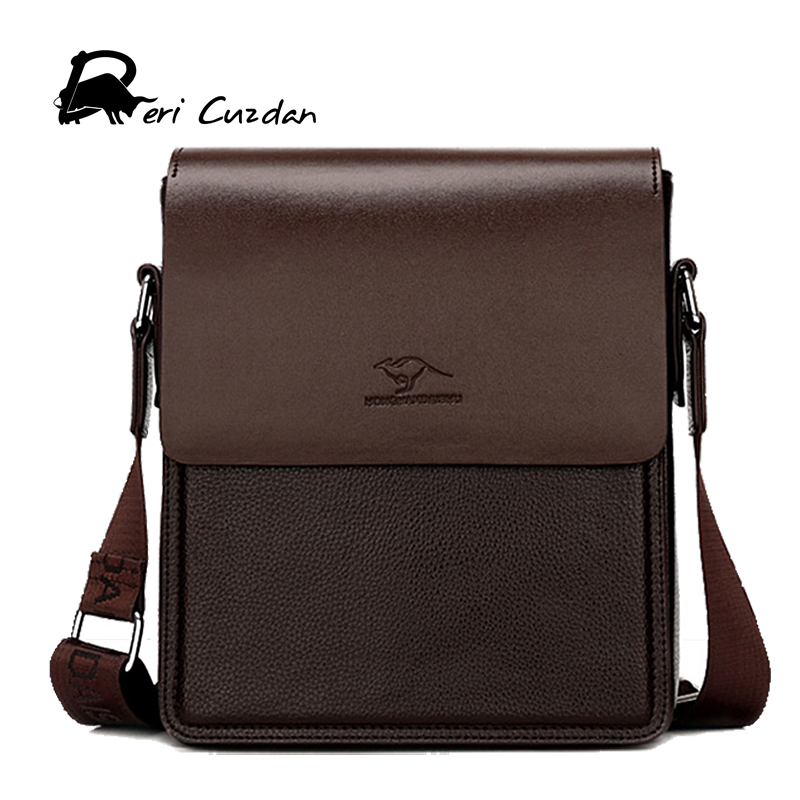 DERI CUZDAN 2017 New Bag Leather Men Messenger Bags Kangaroo High Quality Bag with Logo Mens Shoulder Bag Casual Male Designer<br>