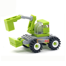34pcs Mini Digging Truck Construction Engineering Vehicles Building Blocks Kids Educational Bricks Children Toys K2520-1219