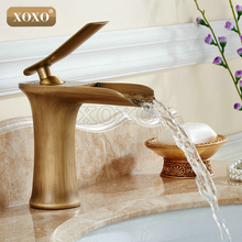 XOXO Waterfall Brass Vanity Sink Faucet Chrome Bathroom Sink Basin Mixer Tap 83008