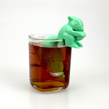 Tea Infuser Silicone Cute Squirrel Shape Tea Coffee Loose Leaf Strainer Bag Mug Filter Teapot Teabags Drinkware Gifts TB(China)