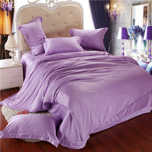 Luxury Purple Tencel Duvet Cover Bedding Sets Comforter Bed in a Bag Quilt 4PC King/Queen/Full Wholesale DHL/FedEx Free Shipping