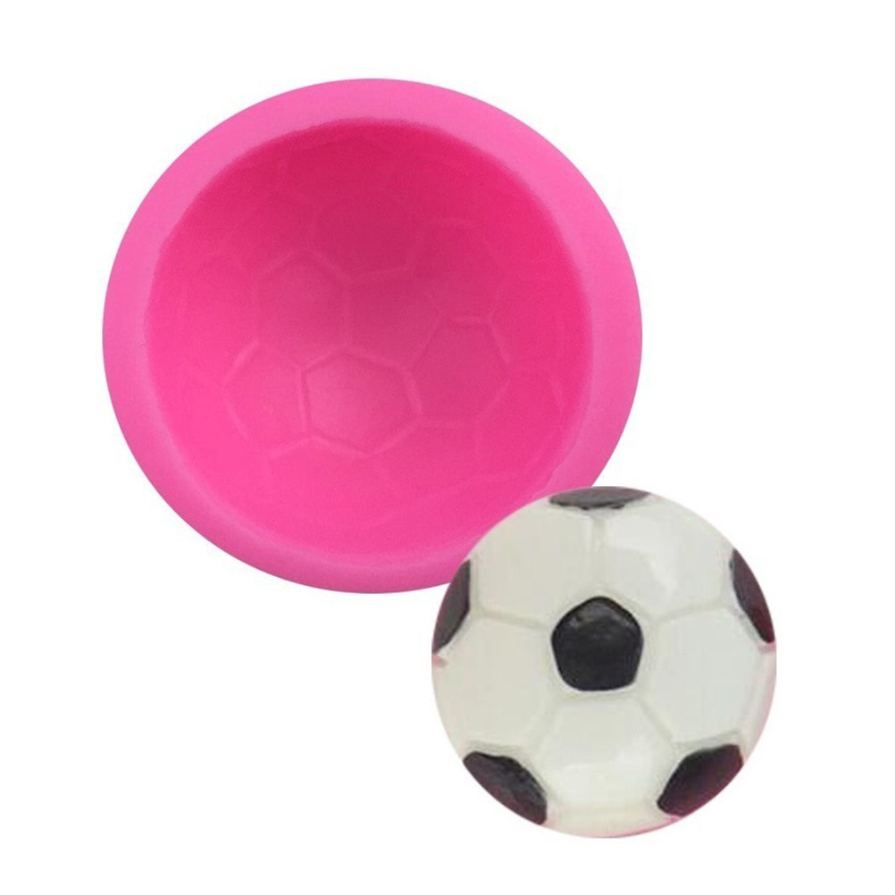 Football cooking Mould silicone mold ball soap mold fondant sugar process molds DIY cake decoration tools baking utensils