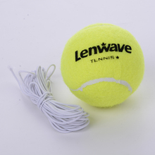 Lenwave Brand high elasticity tennis ball training 1 piece fluorescence color durable Belt line tennis training ball(China)
