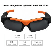 Lightdow SM16 Wireless Sunglasses Camera Eyewear Glasses Recorder Support TF Card Video Recorder DVR DV Camcorder