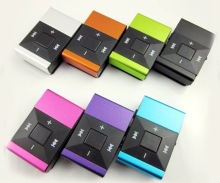 Wholesale Quality Metal Case ONLY Clip Square Key Sports MP3 Music Player with TF SD card Slot