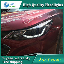 Car Styling C For CHEVROLET CRUZE headlights 2017 LED head lamp Angel eye led DRL front light Bi-Xenon Lens xenon HID(China)