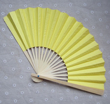 [I AM YOUR FANS] Free Shipping 30pcs/lot 23CM L Double side Chinese Paper fan, wedding paper fan, 12colors for choice